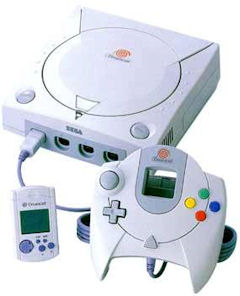 Sega Dreamcast Console with Controller and VMU