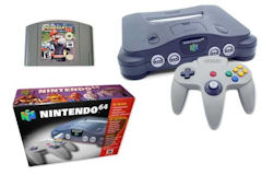 Nintendo 64 Console, Cartridge, and Controller