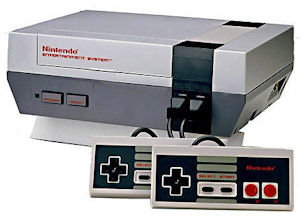 Nintendo Entertainment System Console with controllers